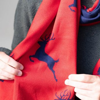Reversible Stag Winter Scarf