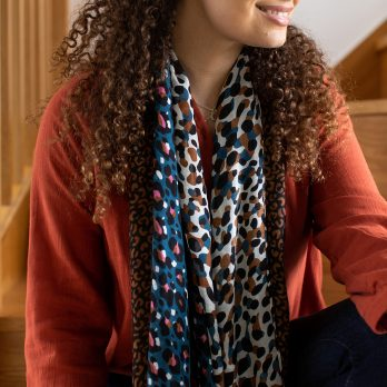 Leopard Print Recycled Scarf