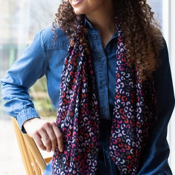 Animal Print Recycled Scarf