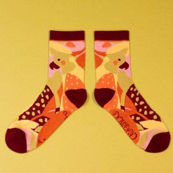 Parrot ladies ankle socks