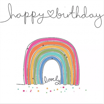 Happy birthday lovely rainbow card