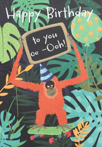 jungle happy birthday card