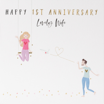 First anniversary card for wife