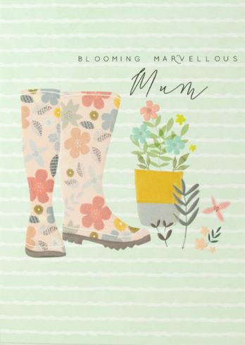 Blooming marvellous mum card