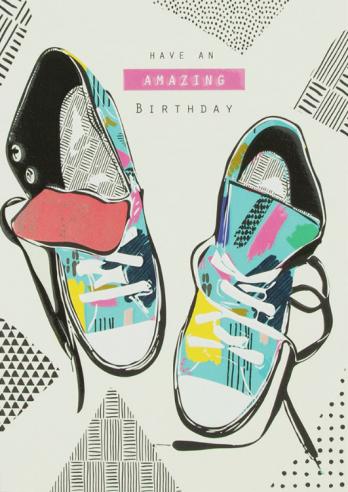Trainer birthday card