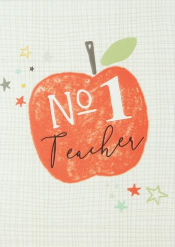 No 1 teacher card