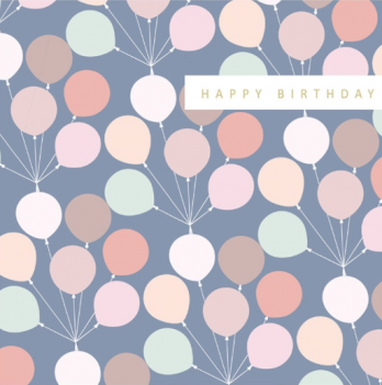 Balloons birthday card for her