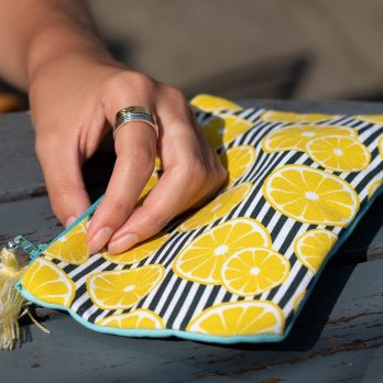 Lemon zip pouch bag
