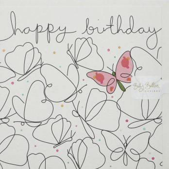 Pink butterfly birthday card