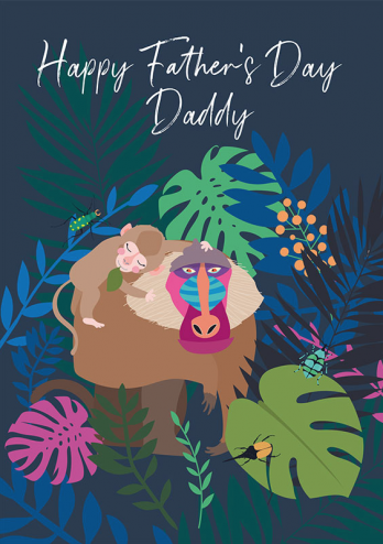 Baboon Father's Day Daddy card