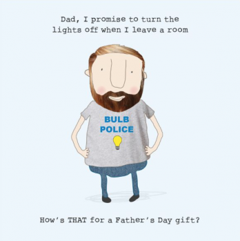 Bulb police funny Father's Day card