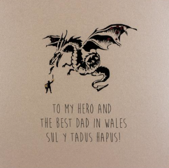 Best dad in Wales Father's Day card