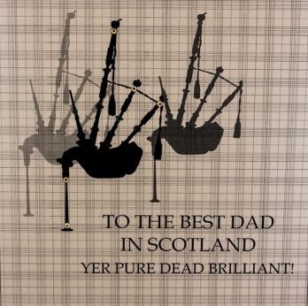 best dad in Scotland Father's Day card