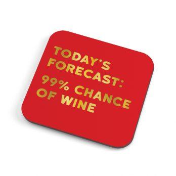 Chance of wine coaster