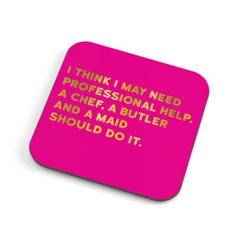 Funny coaster for her