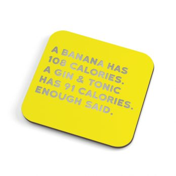 Gin and tonic funny coaster