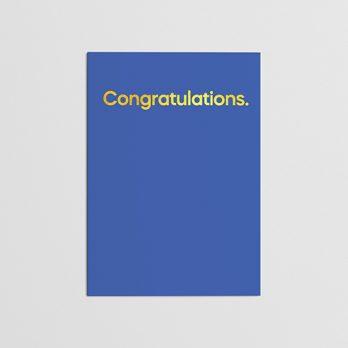 Cliff RIchard Congratulations Card