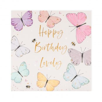 Butterfly birthday card for her