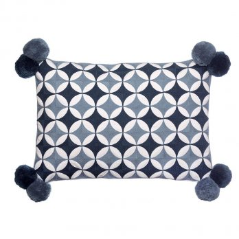 Bombay duck embroidered cushion