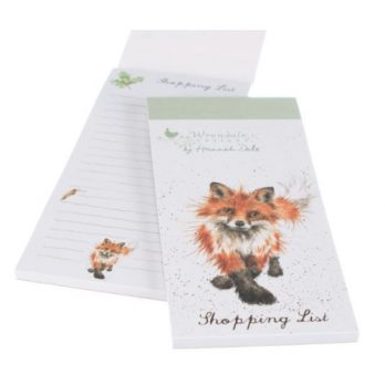 Wrendale Designs Fox Magnetic Shopping List Notepad