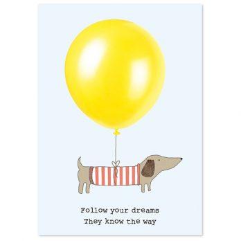 Follow your dreams dog A6 notebook