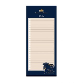 Downton Abbey to do list notepad