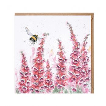 Wrendale A cottage garden bee card