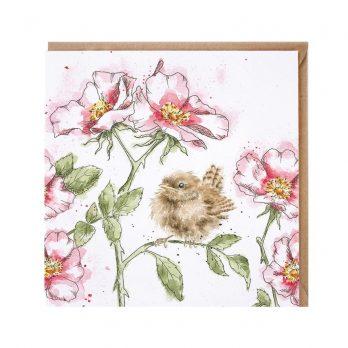 Bird on Roses Card