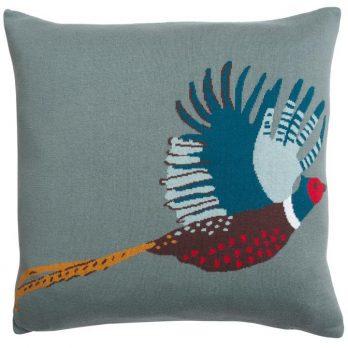 Knitted Pheasant Statement Cushion