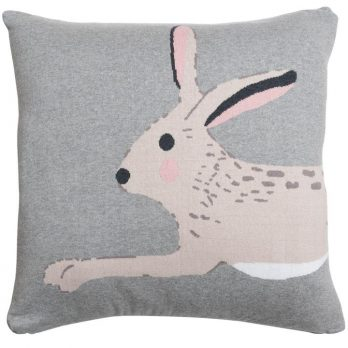Knitted Hare Statement Cushion