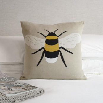 Knitted Bee Statement Cushion
