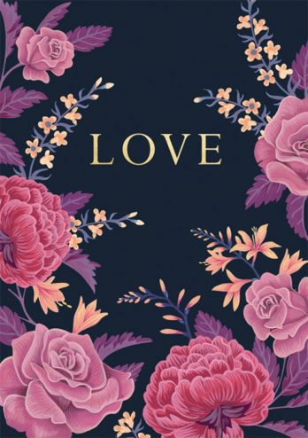 Floral Love Valentine's Day Card