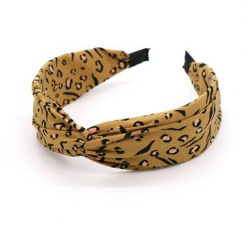 Camel Safari Print Twist Knot Headband