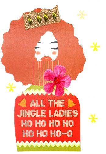 All the jingle ladies Christmas card