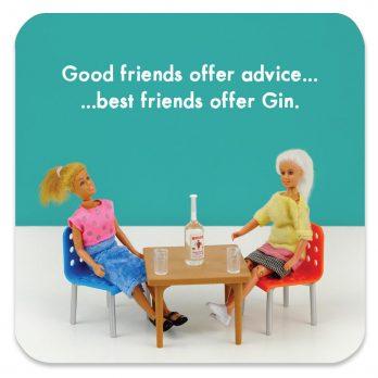 Best Friends Offer Gin Coaster