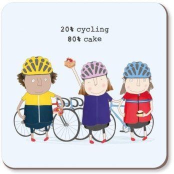20% Cycling 80% Cake Coaster
